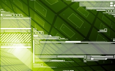 Free vector Vector background  Green Tech Background