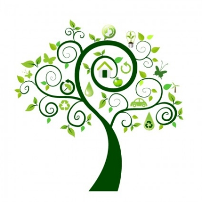 Free vector Vector icon  Green tree with ecology icons