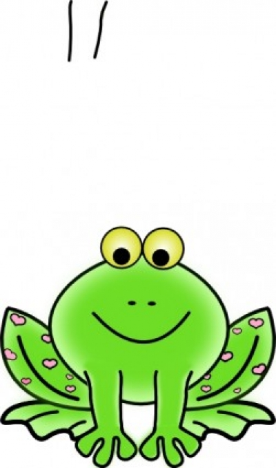 Free vector Vector clip art  Green Valentine Frog With Pink Hearts clip art