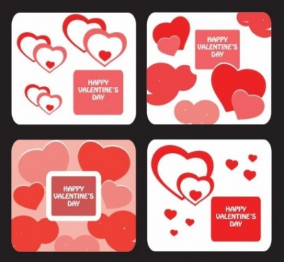 Free vector Vector Heart  Greeting Card Templates for Valentine Day