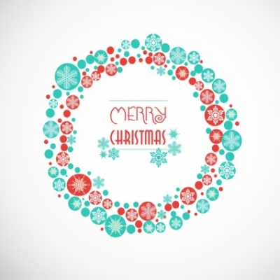 Free vector Vector misc  Greeting card with Christmas wreath