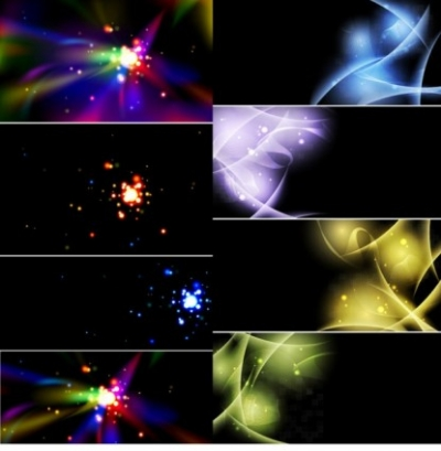Free vector Vector background  group 2 bright light background effect
