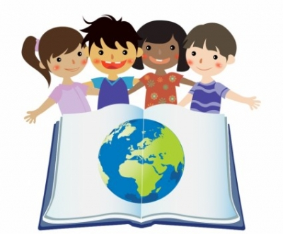 Free vector Vector misc  Group Of Kids Reading