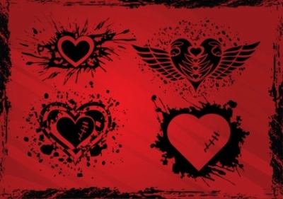 Free vector Vector Heart  Grunge Hearts