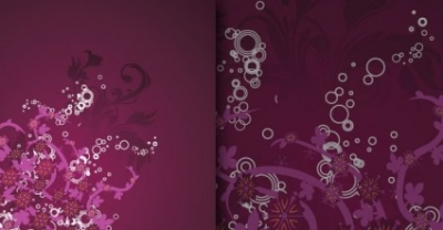 Free vector Vector flower  Grungy floral background