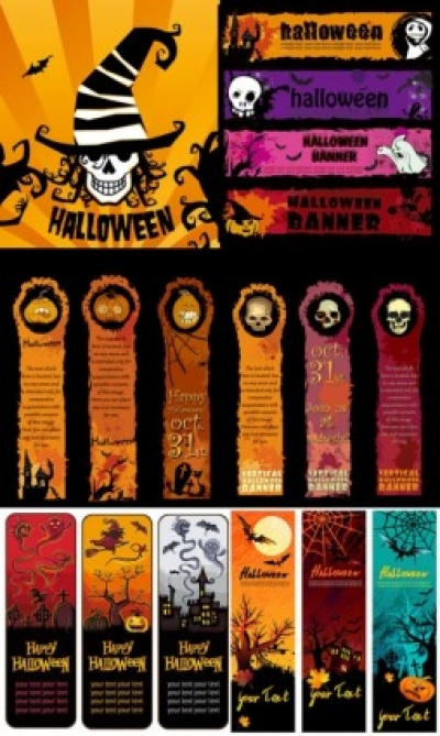 Free vector Vector banner  halloween banner element vector