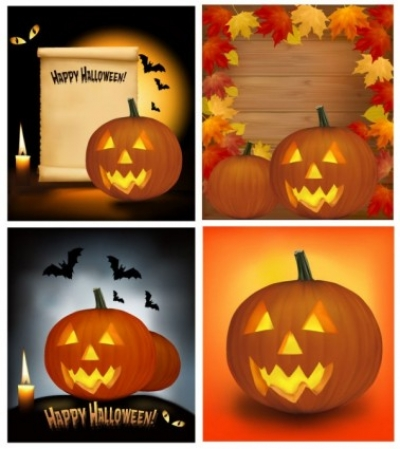Free vector Vector background  halloween cartoon background 03 vector