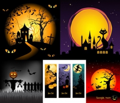 Free vector Vector cartoon  halloween horror cartoon illustrators
