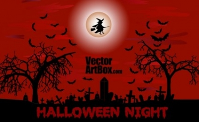 Free vector Vector misc  Halloween Night Poster
