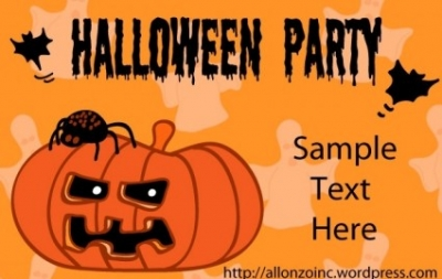 Free vector Vector misc  Halloween Party Invitation Card 1