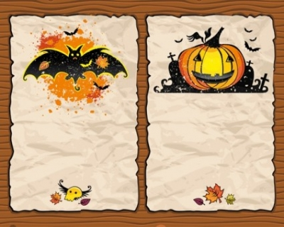 Free vector Vector background  halloween pumpkin bat background vector