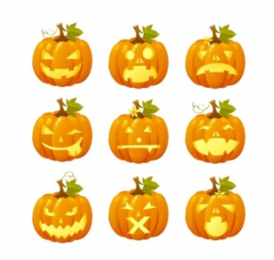 Free vector Vector icon  halloween pumpkin head vector emoticons