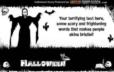 Free vector Vector misc  Halloween – Scary Postcard