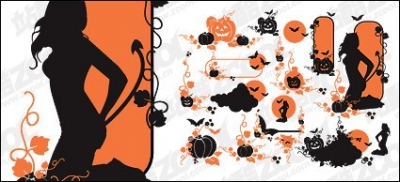 Free vector Vector pattern  Halloween theme vector pattern material