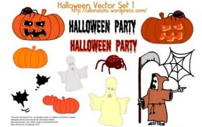 Free vector Vector misc  Halloween Vector Set 1