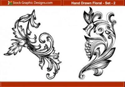 Free vector Vector floral  Hand Drawn Floral 2