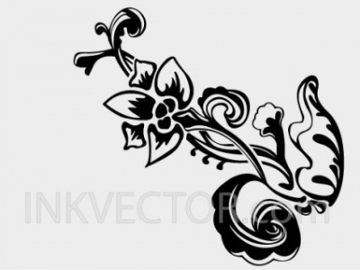 Free vector Vector floral  Hand Drawn Floral Vector