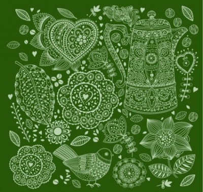 Free vector Vector background  Hand Drawn Style Floral Background Vector Graphic