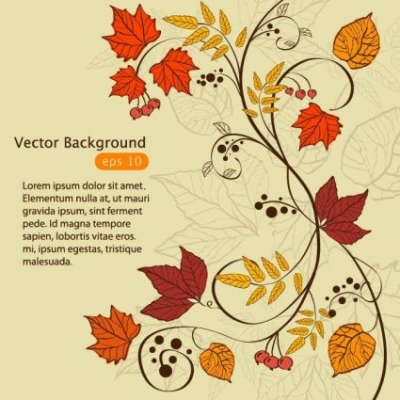 Free vector Vector background  Hand painted maple leaf background