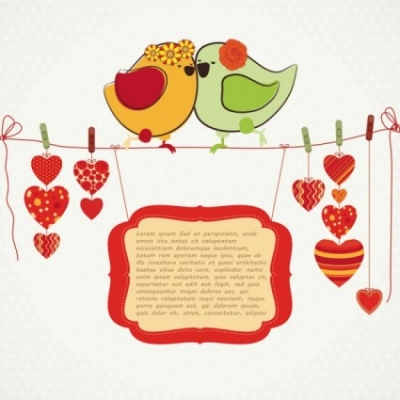 Free vector Vector misc  handdrawn illustration love birds 04 vector