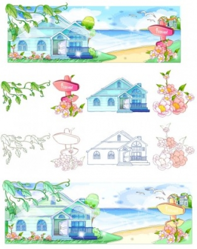 Free vector Vector misc  handdrawn style summer style series vector 2