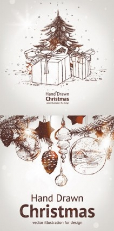 Free vector Vector Christmas  handpainted christmas element vector