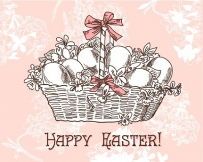 Free vector Vector pattern  handpainted easter pattern 02 vector