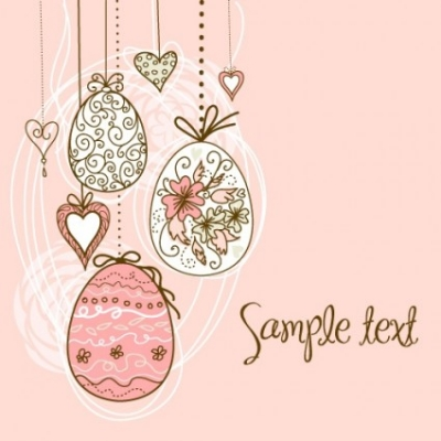 Free vector Vector pattern  handpainted easter pattern 05 vector