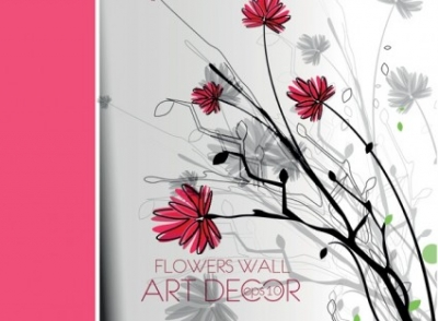 Free vector Vector background  Hand-painted floral text background