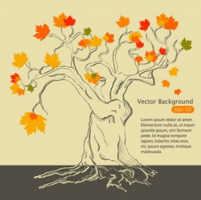 Free vector Vector background  handpainted maple leaf background 01 vector