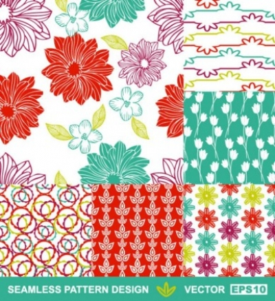 Free vector Vector background  handpainted pattern background 04 vector