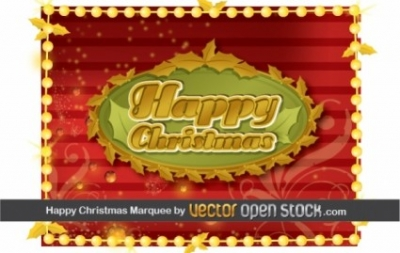 Free vector Vector Christmas  Happy Christmas Frame