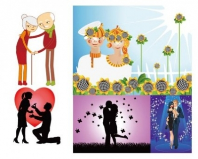 Free vector Vector misc  happy couple and the couple vector