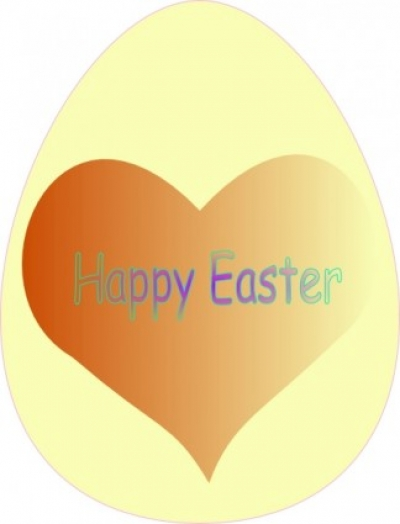 Free vector Vector clip art  Happy Easter Heart clip art