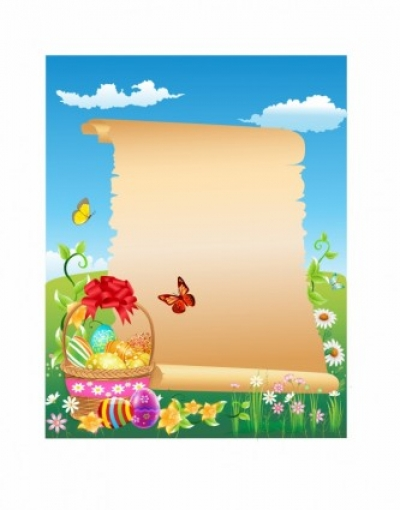 Free vector Vector misc  Happy Easter scroll