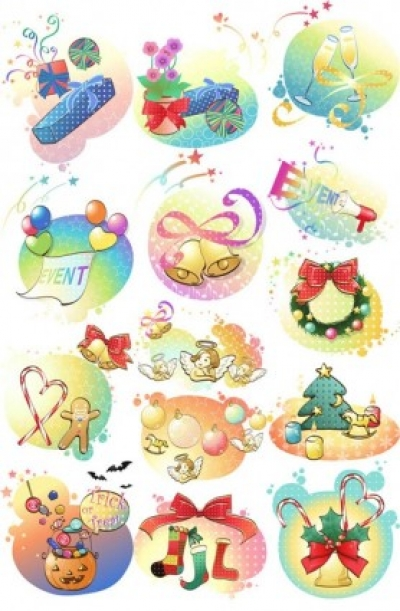 Free vector Vector misc  happy holiday clip art