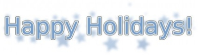 Free vector Vector clip art  Happy Holidays (with Snowflakes)