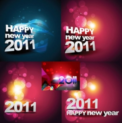 Free vector Vector background  happy new year 2011 background vector