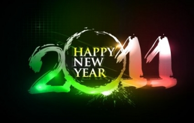 Free vector Vector misc  Happy new year 2011 eps Vector part03