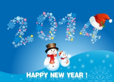 Free vector Vector Christmas  Happy new year 2014