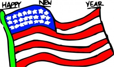 Free vector Vector clip art  Happy New Year Us Flag clip art