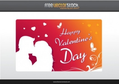 Free vector Vector Heart  Happy Valentine's Day Card
