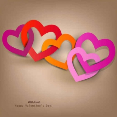 Free vector Vector background  Happy Valentine's Day Heart to Heart