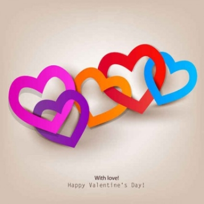 Free vector Vector background  Happy Valentine's Day Love