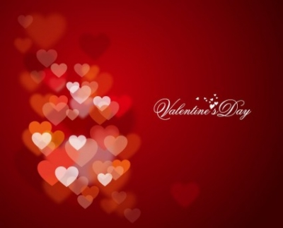 Free vector Vector background  Happy Valentine's Day with Lights and Hearts in Background