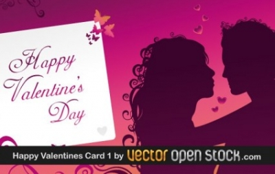 Free vector Vector Heart  Happy Valentine's Day Greeting Card