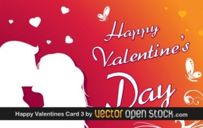 Free vector Vector Heart  Happy Valentine's day greeting card 3