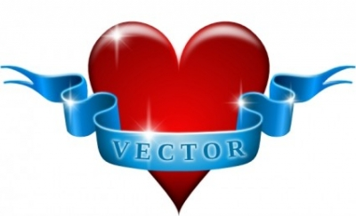 Free vector Vector clip art  Heart And Ribbon clip art