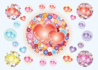 Free vector Vector flower  Heart Flowers Vectors