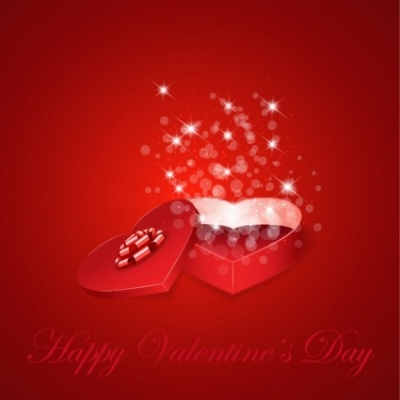 Free vector Vector background  Heart Gift Present for Valentine's Day Background